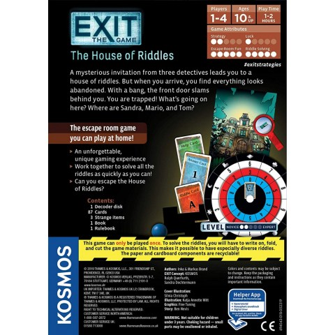 Exit: The Game – The House of Riddles (2017) Board Game