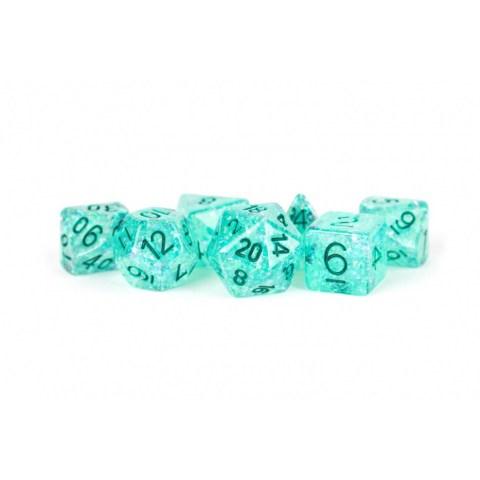 Комплект D&D зарове: Metallic Dice Games - Resin Flash Premium Polyhedral Dice Set - Teal