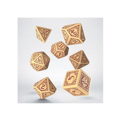 Комплект D&D зарове: Q-Workshop Divinity Original Sin 2 Dice Set - Beige and Burgundy в Зарове за игри