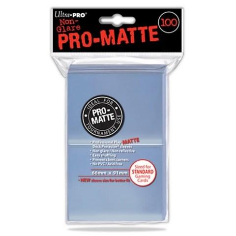 Протектори за карти 66x91мм/63.5x88мм Ultra Pro Pro-Matte Card Sleeves (100 броя, прозрачни) в LCG, 63.5x88 мм)