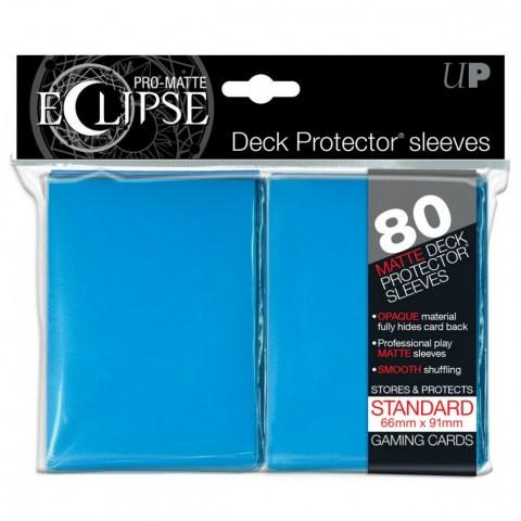 Протектори за карти 66x91мм/63.5x88мм Ultra Pro Pro-Matte Eclipse Light Blue Card Sleeves (80 броя, светло сини)