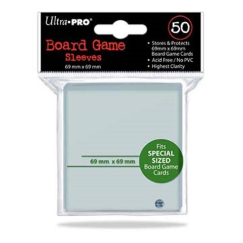 Протектори за карти 69x69мм Ultra Pro Board Games Sleeves (50 броя, прозрачни)