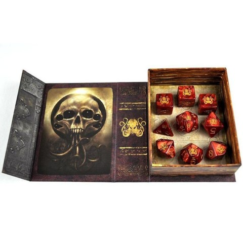 Elder Dice: Brand of Cthulhu - Red Polyhedral Set in D&D Dice Sets