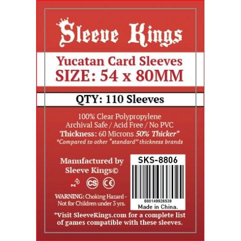 Протектори за карти Sleeve Kings Yucatan Card Sleeves (54x80mm) 110 Pack, 60 Microns в Други размери