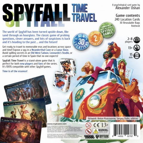 Spyfall: Time Travel (2018) - парти настолна игра