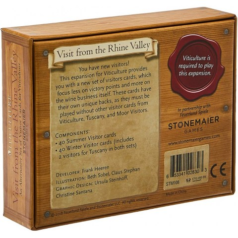 Viticulture: Visit from the Rhine Valley  Expansion (2018) - разширение за настолна игра