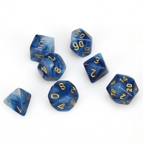 Комплект D&D зарове: Chessex Phantom Teal/Gold в Зарове за игри
