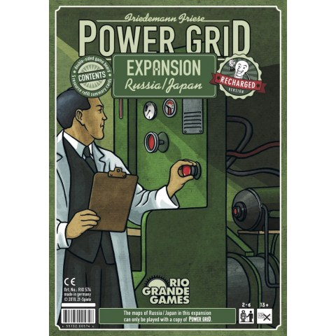 Power Grid: Russia & Japan (English Recharged Edition, 2019) - разширение за настолна игра