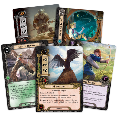 The Lord of the Rings LCG: Vengeance of Mordor Cycle #5 -  The Land of Sorrow Adventure Pack