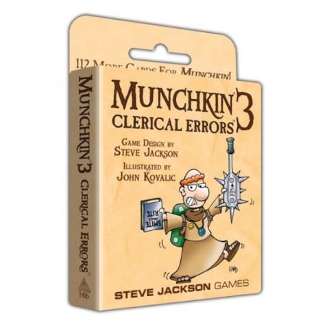 Munchkin 3: Clerical Errors Expansion (2003) - разширение за настолна игра