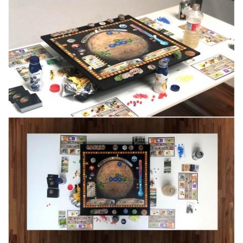 AdapTableTop Modular System for boardgames (Silver, 90x60cm)