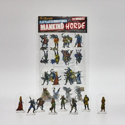 Arcknight Flat Plastic Miniatures: Mankind Horde (31 standees)