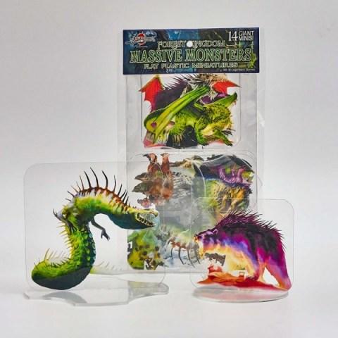 Arcknight Flat Plastic Miniatures: Massive Monsters (14 standees)