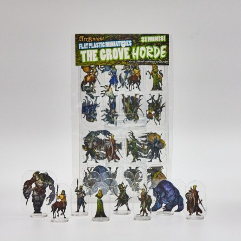Arcknight Flat Plastic Miniatures: The Grove Horde (31 standees)