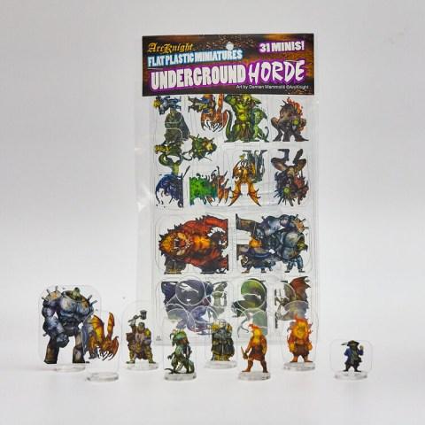Arcknight Flat Plastic Miniatures: Underground Horde (31 standees)