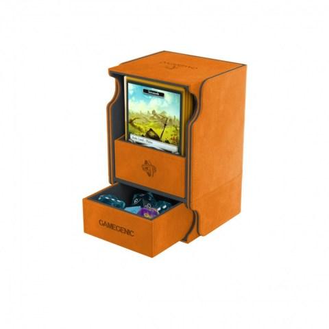 Gamegenic Orange Watchtower Deck Holder (100+) - оранжева кутия за карти и игрални аксесоари в Кутии за карти