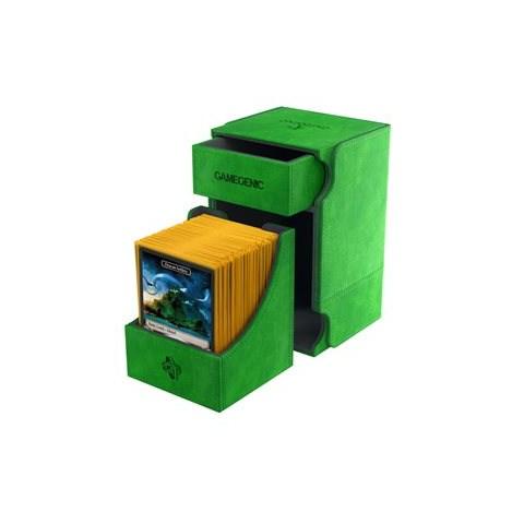 Gamegenic Green Watchtower Deck Holder (100+) - зелена кутия за карти и игрални аксесоари в Кутии за карти