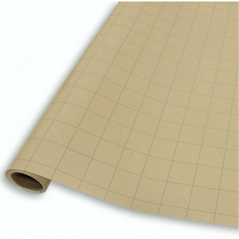 """Gaming Paper Roll: 1 Inch Square Beige RPG Mat (30""""x12"""")"""
