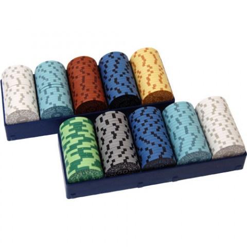 Iron Clays: Printed Box with 200 Chips - комплект 200 броя супер луксозни покер чипове в Аксесоари
