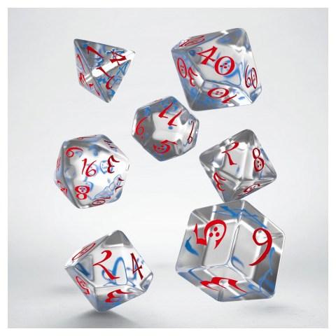 Комплект D&D зарове: Polyhedral 7-Die Set: Q-Workshop Classic RPG (Clear) в D&D и други RPG / D&D Зарове