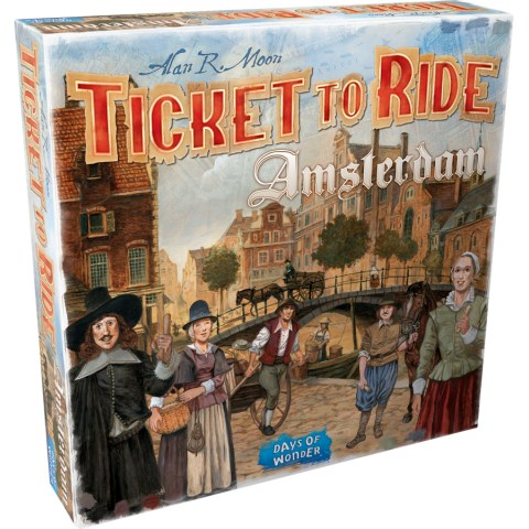 Ticket to Ride: Amsterdam (2020, English Edition) - настолна игра