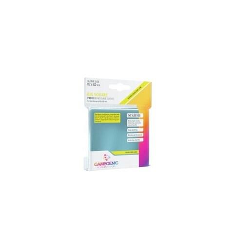 Протектори за карти Prime Gamegenic Big Square Sleeves 82x82mm (50 броя, за настолни игри, прозрачни, плътни) в Протектори