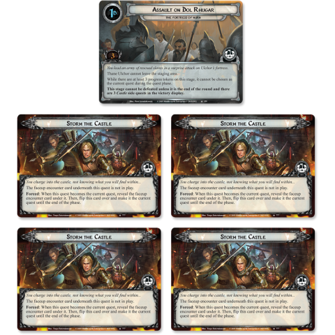 The Lord of the Rings LCG: Vengeance of Mordor Cycle #6 - The Fortress of Nurn Adventure Pack