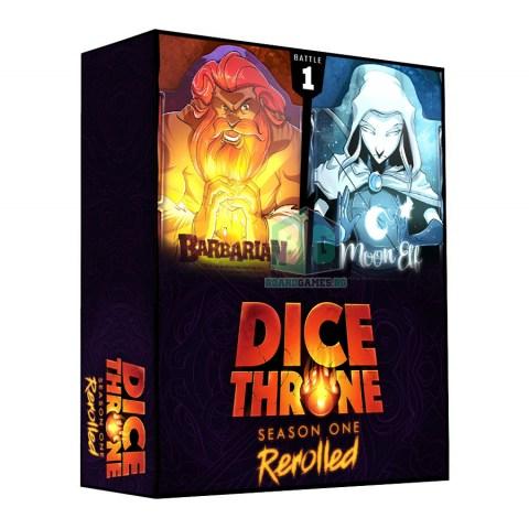 Dice Throne: Season One ReRolled Box 1 – Barbarian vs Moon Elf (2020) - настолна игра