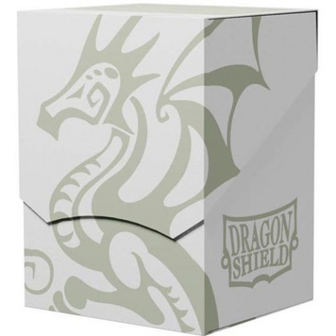 Dragon Shield Deck Shell - White/Black Interior (100+ or 80 double-sleeved cards) in Deck boxes