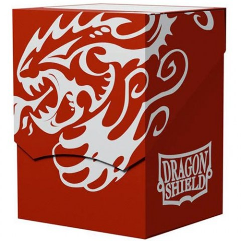 Dragon Shield Deck Shell - Red/Black Interior (100+ or 80 double-sleeved cards) in Deck boxes