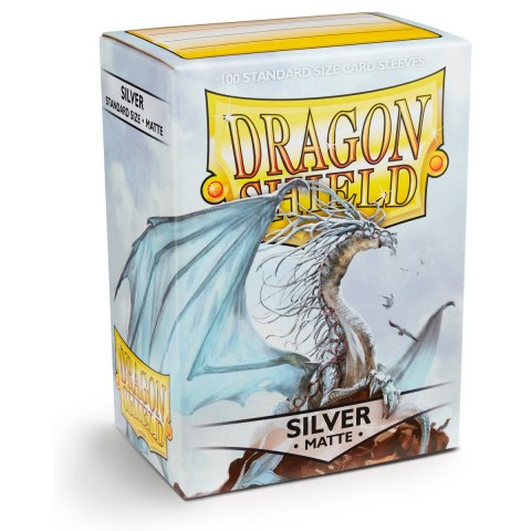 Dragon Shield Standard Sleeves - Matte Silver - матови протектори за карти (сребристи) 100 бр. в LCG, 63.5x88 мм)