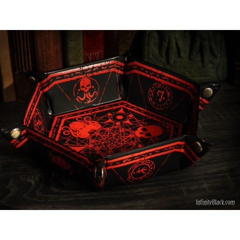 Elder Dice: Hexagon Folding Dice Tray - Red in Other accessories