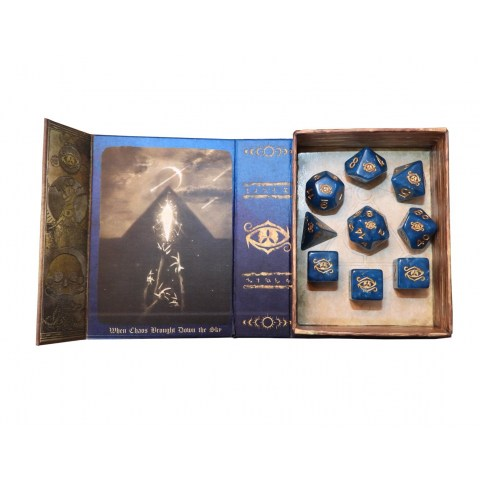 Elder Dice: Eye of Chaos Dice - Nebula Polyhedral Set in D&D Dice Sets