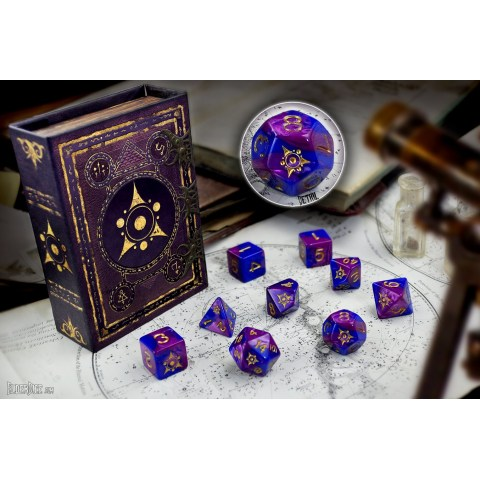 Комплект D&D зарове: Elder Dice Sigil of the Dreamlands - Eldritch Nebula Polyhedral Set в D&D и други RPG / D&D Зарове
