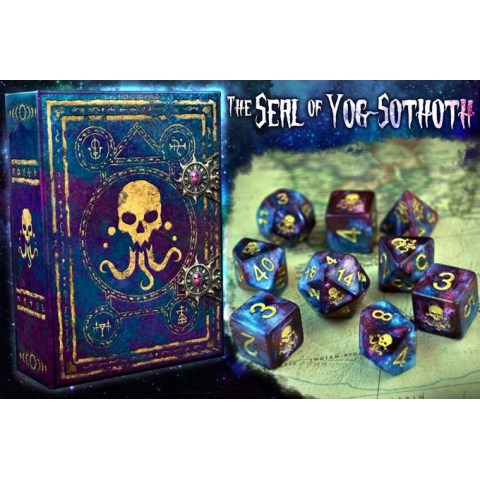Elder Dice: The Seal of Yog-Sothoth - Nebula Polyhedral Set in D&D Dice Sets