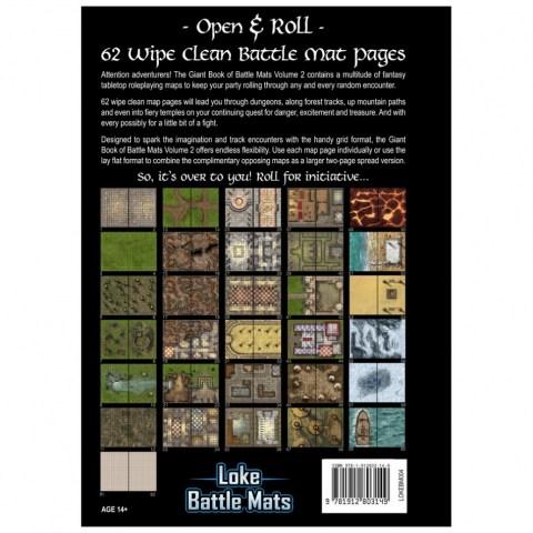 "Loke Battle Mats: The Giant Book of Battle Mats Volume II (16.5x12"", A3, 62 pages)"