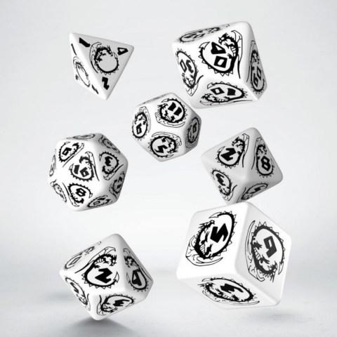 Комплект D&D зарове: Q-Workshop Dragons Dice Set (White & Black) в Зарове за игри