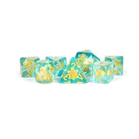 Polyhedral 7-Die Set: Metallic Dice Games - Turtle Dice in D&D Dice Sets