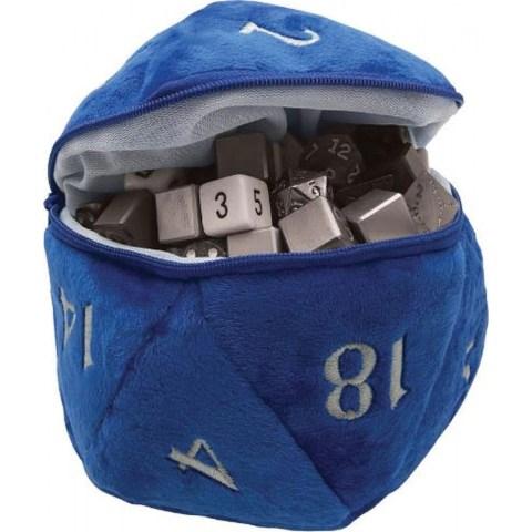 Ultra Pro: Dungeons & Dragons D20 Plush Dice Bag (Blue) в Други аксесоари