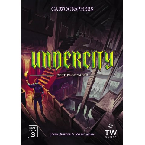 (Pre-order) Cartographers Map Pack 3: Undercity – Depths of Sabek (2021) - разширение за Cartographers: A Roll Player Tale и Cartographers Heroes