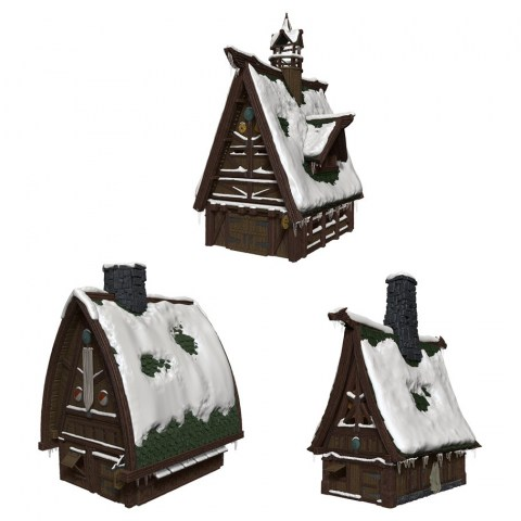 Dungeons & Dragons Fantasy Miniatures: Icons of the Realms - Icewind Dale: Rime of the Frostmaiden - Ten Towns Papercraft Set в D&D и други RPG / D&D / Pathfinder терен