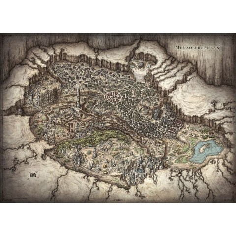 """Dungeons & Dragons RPG 5th Edition: D&D Out of the Abyss Map Set (23""""x16"""", 20""""x16"""") в D&D и други RPG / D&D / Pathfinder терен"""