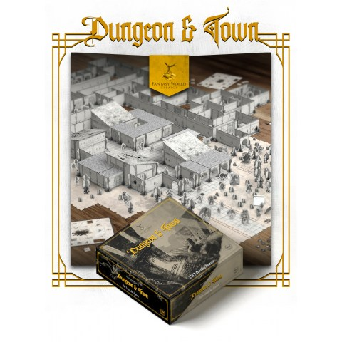 Gamestart Edizioni Fantasy World Creator: Dungeon & Town в D&D и други RPG / D&D / Pathfinder терен