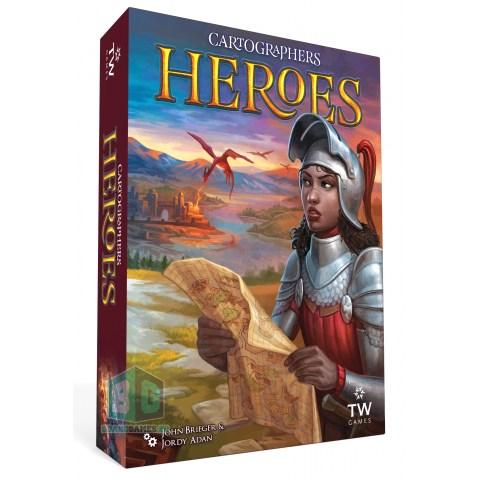 (Pre-order) Cartographers: Heroes (2021) - настолна игра и разширение за Cartographers