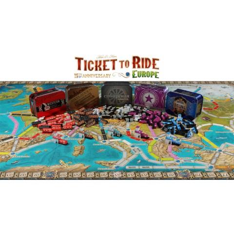 (Pre-order) Ticket to Ride: Europe 15th Anniversary Edition (2021) - юбилейно издание на настолната игра