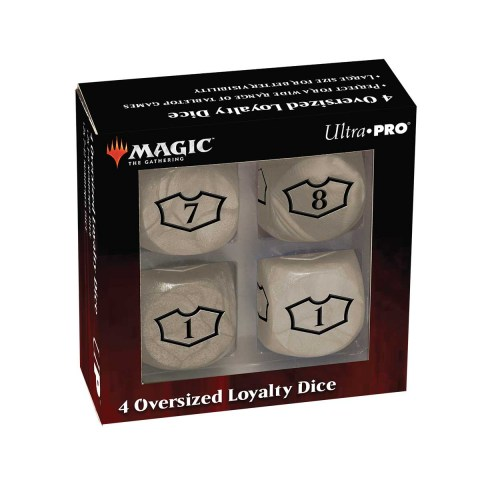 Ultra Pro Magic: The Gathering Oversized Loyalty Dice (4) - Plains in Sleeves & Accessories