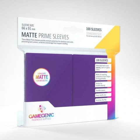 Протектори за карти Gamegenic Matte Purple Sleeves Pink 66x91mm (100 броя, матови, лилави, плътни) в LCG, 63.5x88 мм)