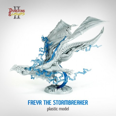Dungeons & Lasers: Freyr The Stormbreaker Miniature в D&D и други RPG / D&D Миниатюри