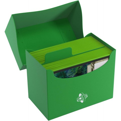 Gamegenic Green Side Deck Holder (80+) - зелена кутия за карти в Кутии за карти