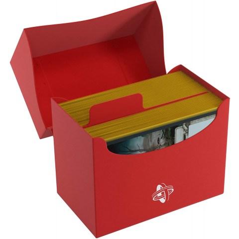 Gamegenic Red Side Deck Holder (80+) - червена кутия за карти в Кутии за карти